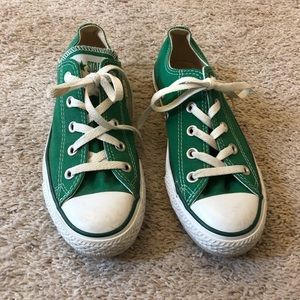 Converse all star green woman size 6